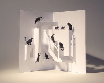 Pop Up Card - Kitty Chaos