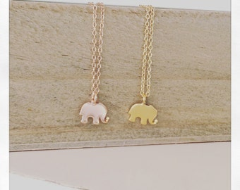 Dainty Gold Necklace, elephant necklave, Gold elephant Necklace, Delicate Gold Necklace, Birthday Gift, Best selling item, Best Friend Gift