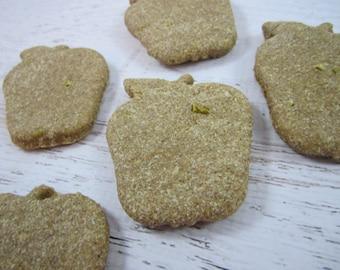 Apple Cinnamon Gourmet Dog Treats ~ Homemade Bakery Dog Biscuits ~ Apple Shaped Dog Cookies ~ Healthy Dog Treats ~ Dog Snacks ~ Dog Bone