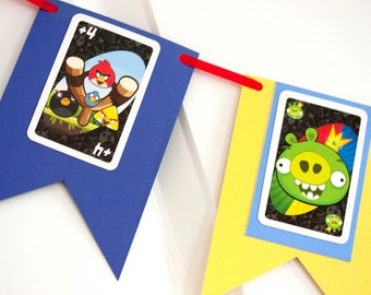 Angry birds banner birthday party child room
