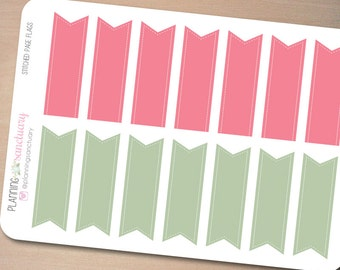 Stitched Page Flags 1    Reminder Planner Stickers Perfect for Erin Condren, Kikki K, Filofax and all other Planners