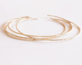 14k Gold 1mm Square Hammered Cuff Bracelet w Round Ends Thin Cuff Bracelet Brass Bangle Delicate Jewelry Stacking Bracelet Minimalist 002