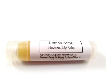 Lemon Mint Homemade Lip Balm Moisturizing Chapstick Lipstick