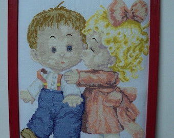 FRAME embroidery stitch croixneuf: first love