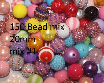 150 Bead Mix CLEANING SALE 20mm beads