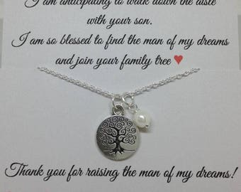 Mother of the Groom gift from bride Necklace, wedding jewelry