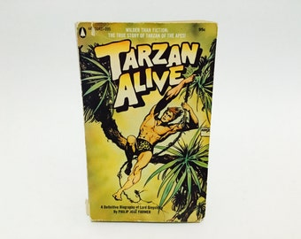 Vintage Pop Culture Book Tarzan Alive by Philip Jose Farmer 1972 Paperback