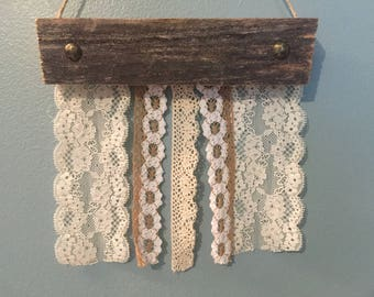 Rustic Lace Earring Holder - Jewelry Organizer