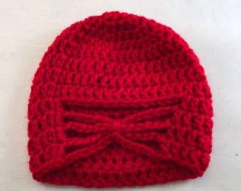 Red Newborn Hat