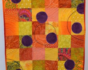 Fiber Art, Wall Hanging, fiber art, home decor, abstract art quilt, wall art quilt, contemporary art, modern art, abstract art, color art