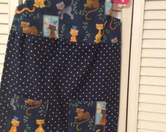 Summer jumper in Navy polka dot with Cats and Dots