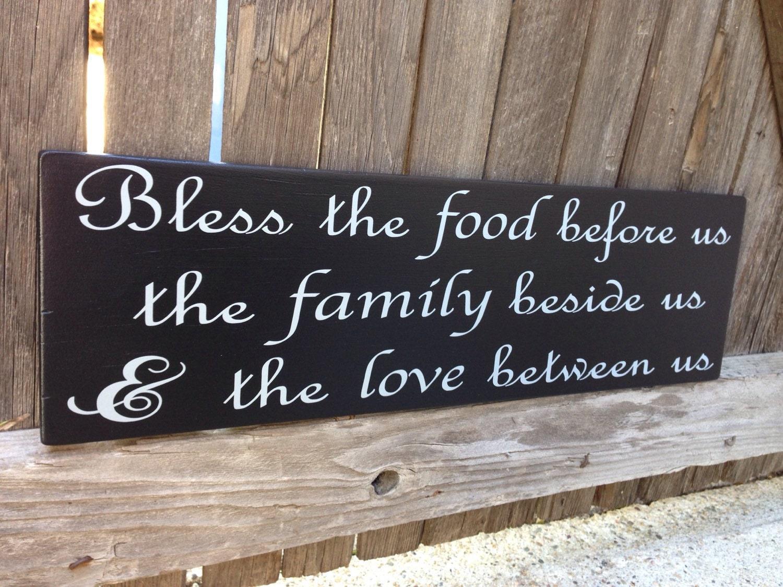Segne das Essen vor uns Zeichen segne dieses Essen Holz Schild
