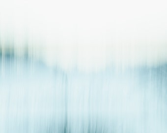Blue nordic abstract landscape photograph. Abstract zen large wall art for above fireplace in minimalist loft. Unique gift for the home.