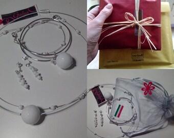 """Sets: 2 chokers + 2 bracelets + 1Orecchini """"Margo"""""""