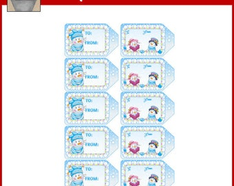 Snow Much Fun Gift Tags