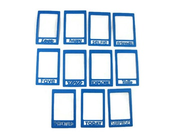 Paper Photo Frame Die Cut set of 6 You choose the Saying