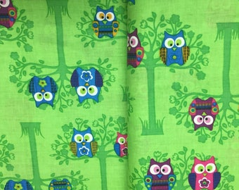 Creative product owls cotton fabric one metre
