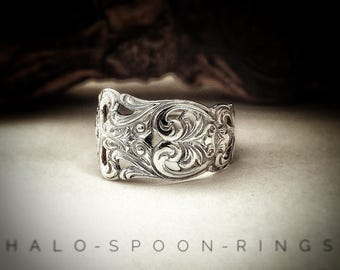 Pretty Ladies Norwegian Solid Silver Spoon Ring