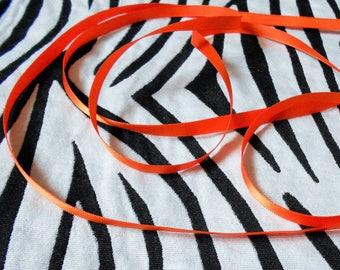 Orange satin ribbon 6mm sold by the yard