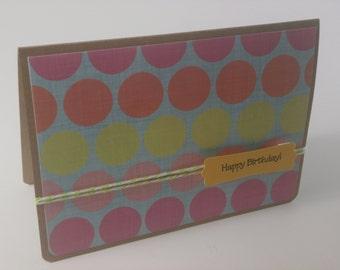 Happy Birthday Card, Polka Dot Birthday Card