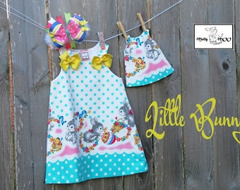 Dolly and Me Dress- Little Bunny (Childs dress only)