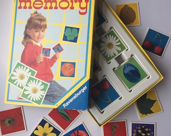 Vintage memory game, complete Ravensburger junior memory game cards, 36 pairs from 1992