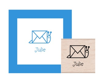 Snail Mail Personalized Rubber Stamp