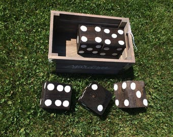 Handmade Yahtzee Lawn game with Crate - 4 colour options!
