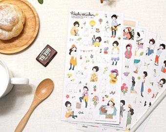 Heeda Heidi sticker set 6 sheets (A 1047)