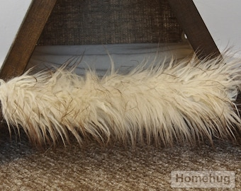 Fur decoration for the teepee,  accessory for the teepee for pets
