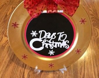 Christmas countdown wall handing/table decoration