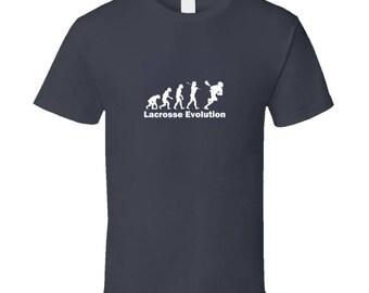 Lacrosse Evolution Light Font T Shirt Funny Lacrosse Shirt LacrosseHeads