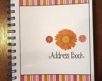 Sweet Gerber Daisy Address Book - Spiral Bound