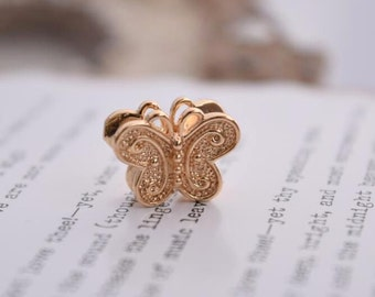 5 of 14K gf butterfly charm butterfly beads QBQ3