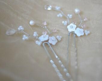 Rose crystal hair pin Bridal Hair Piece flower pins flower Pin rose hair pin crystal hair pins bridesmaid hair pins wedding hair pin