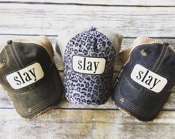 Slay HAT, workout tank, Beachbody gym shirt, yoga, funny shirt, workout shirt, slay all day, charcoal,