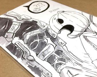 Citrouille: Dessin à l'encre originale | art original, dessin à l'encre, anime dessin, manga art, art anime original, inktober, final fantasy xii, ff12
