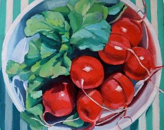 Harvest, original oil 12 x 12