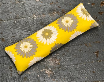 Handmade Fabric Hot Cold Therapy Compress Rice Bags Yellow Daisy