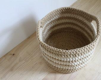 Crochet PATTERN - Chunky crochet basket pattern - Crochet Easter basket pattern - Easy crochet patterns - Crochet storage basket pattern