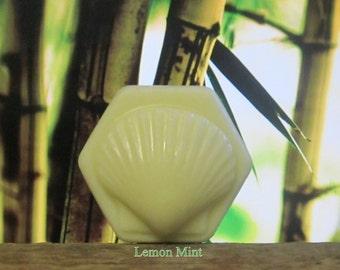Lemon Mint Organic Solid Lotion Bar 100% Natural Large 4 oz.