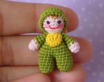 PDF PATTERN - Crochet Miniature Itty Bitty Baby Doll - Amigurumi Tutorial