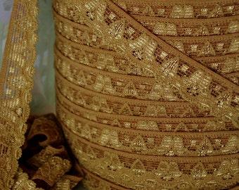 3yds Elastic Lace Stretch Ribbon Cinnamon Brown Stretch Lace Trim 1/2 inch Headbands, lingerie Stretch Trim lace