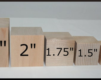 50- Wooden Blocks, DIY Wood Blocks, Wood Cubes, Square Blocks, Solid Wood Blocks- You Choose Your Size