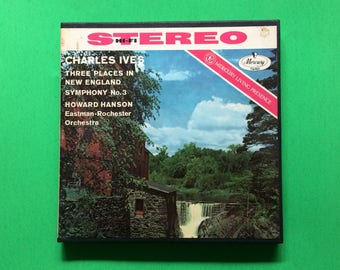 1950's Charles Ives 4 Track Reel to Reel Tape 7 1/2 IPS Three Places In New England Orchestra Music