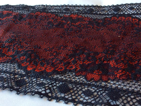 Black and red lace piece from a well known French manufacturer