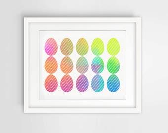 Easter Egg Watercolor Printable