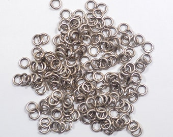 5mm Antique Silver Finish Jump Rings - Choose Your Quantity