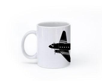 KillerBeeMoto: U.S. Made Douglas C-47 Skytrain Airplane Coffee Mug