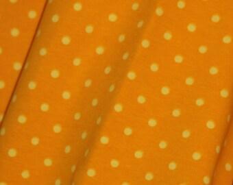 Yellow/yellow dots 1 yard cotton lycra knit